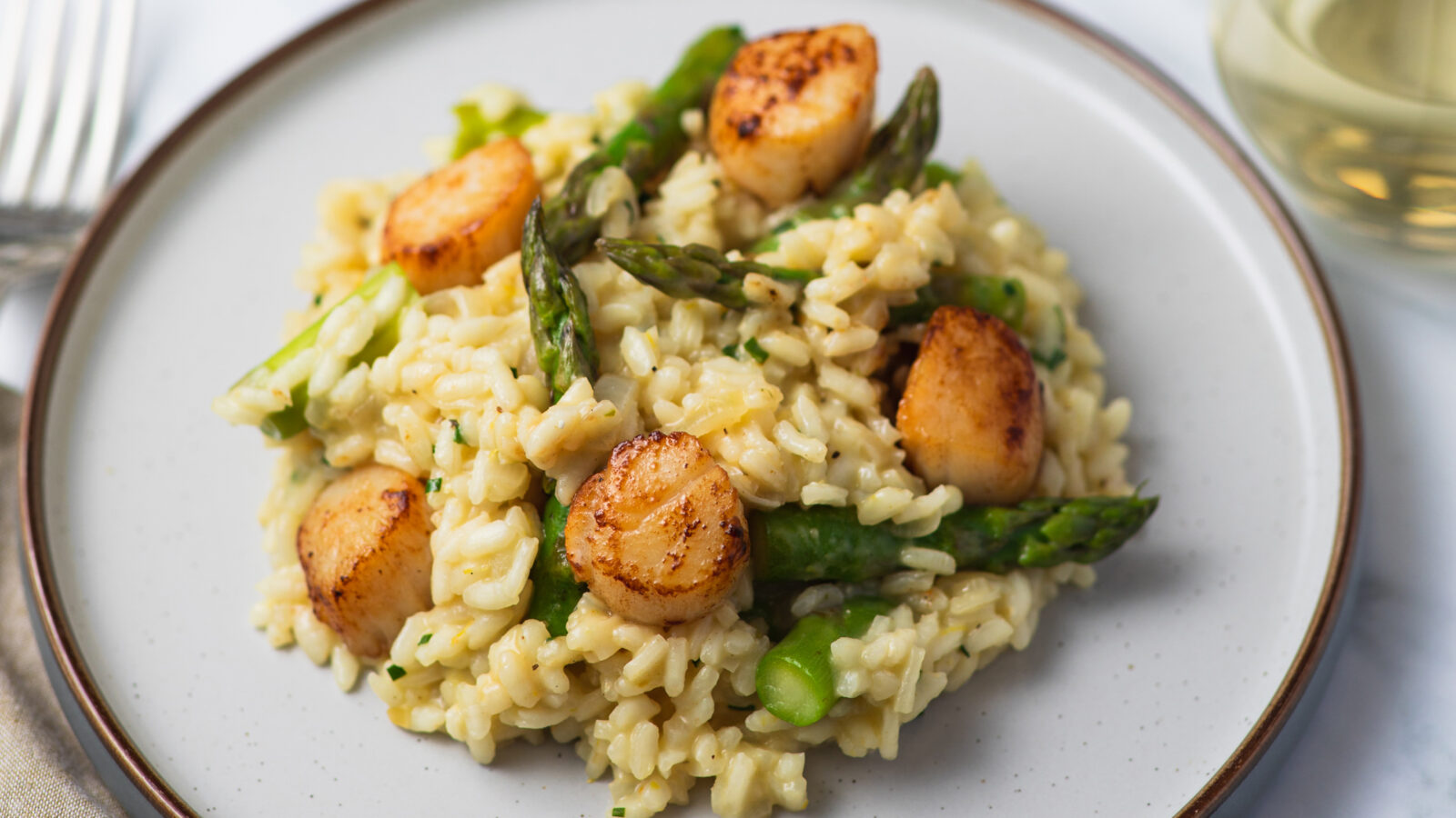 Asparagus and Scallop Risotto