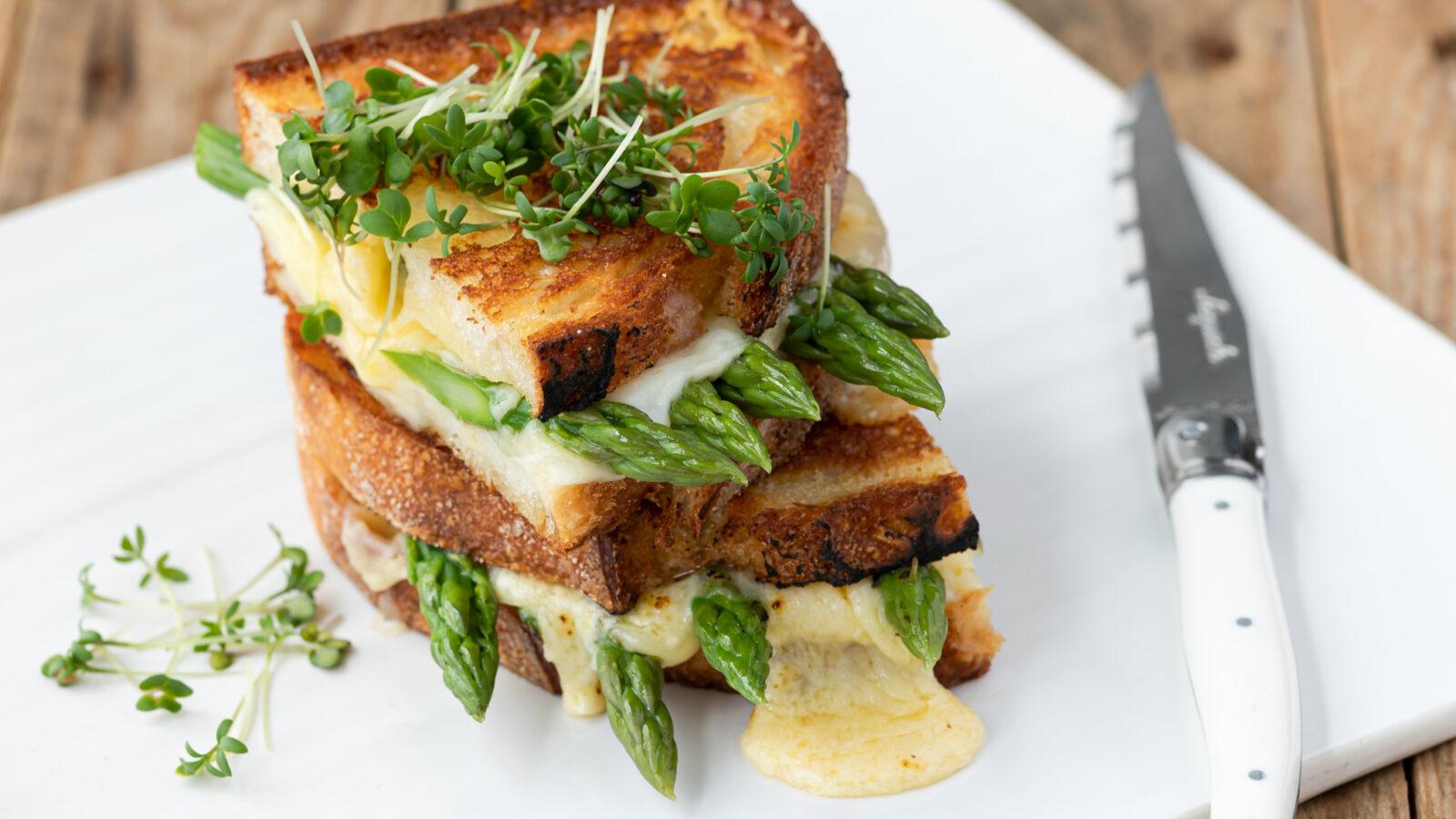 British Asparagus Grilled Cheese Sandwich